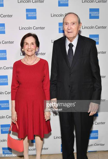 Rita Hauser and Gus Hauser attend the Winter Gala at Lincoln Center at Alice Tully Hall on February 13 2018 in New York City