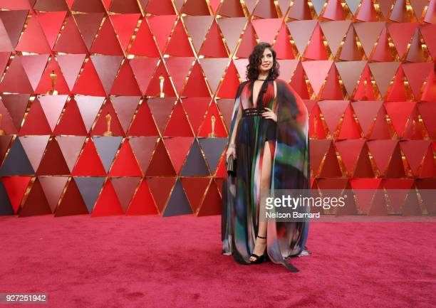 Rita Hayek attends the 90th Annual Academy Awards at Hollywood Highland Center on March 4 2018 in Hollywood California