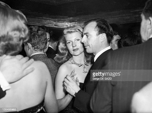 Rita Hayworth And Ali Khan In Paris France In 1948
