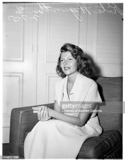 Rita Hayworth July 7 1951 Rebecca WellesYasmine KhanRita Hayworth