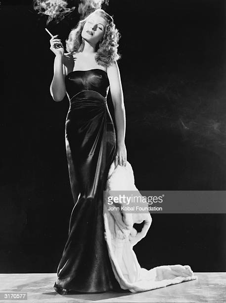 Rita Hayworth plays the sexy title role in the wartime film noir 'Gilda' directed by Charles Vidor