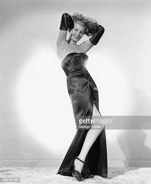 Rita Hayworth starring in Gilda directed by Charles Vidor for Columbia Pictures and costarring Glenn Ford