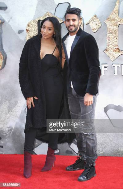 Rita Johal and Riyad Mahrez attend the European premiere of King Arthur Legend of the Sword at Cineworld Empire on May 10 2017 in London United...