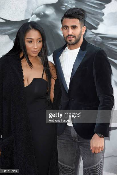 Rita Johal and Riyad Mahrez attend the King Arthur Legend of the Sword European premiere at Cineworld Empire on May 10 2017 in London United Kingdom