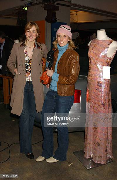Rita Koenig and Arrabella Pollen attend the Couture Car Boot Sale Gala Preview Evening at Selfridges car park Oxford Street March 3 2005 in London...