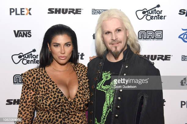 Rita Lowery and musician John 5 attend the Strange 80's concert at The Fonda Theatre on October 12 2018 in Los Angeles California