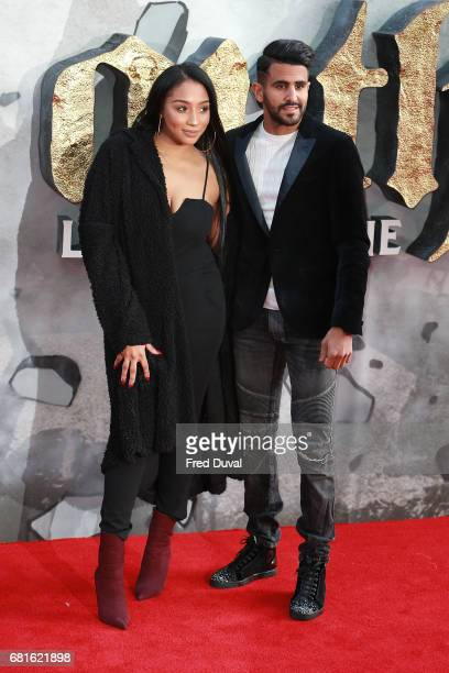 Rita Mahrez and Riyad Mahrez attend the European premiere of King Arthur Legend of the Sword at Cineworld Empire on May 10 2017 in London United...