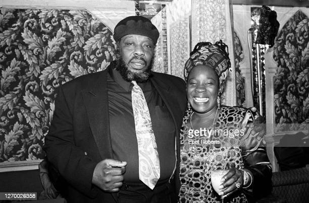 Rita Marley and Benji at a party for the induction of Bob Marley into the Rock Roll Hall of Fame at Tatou in New York City on January 18 1994