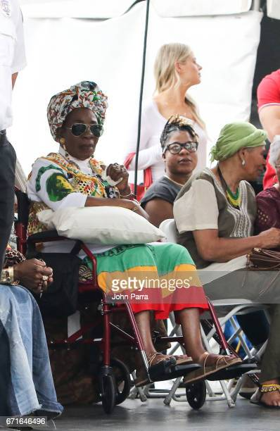 Rita Marley is seen at Kaya Fest at Bayfront Park Amphitheater on April 22 2017 in Miami Florida