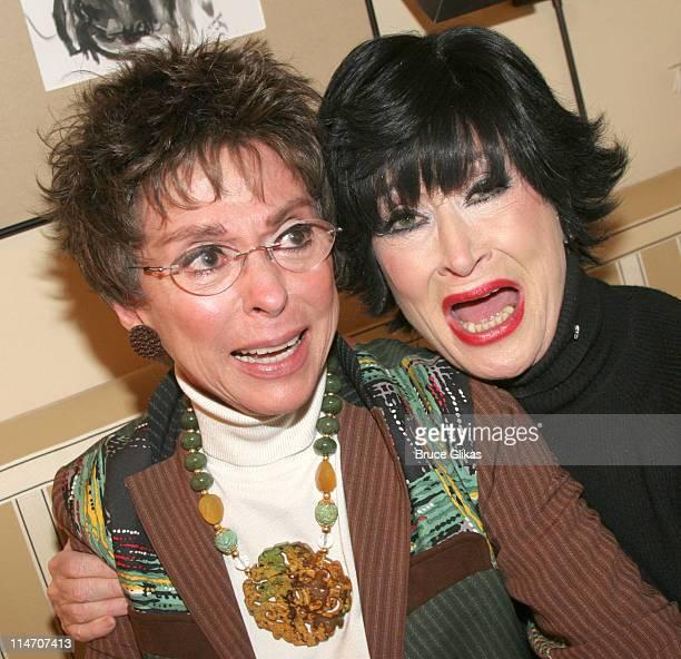Rita Moreno and Chita Rivera *Exclusive Coverage* during Rita Moreno Visits Chita Rivera at 'Chita Rivera The Dancer's Life' on Broadway January 9...