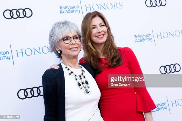 Rita Moreno and Dana Delaney attend the 11th Annual Television Academy Honors at NeueHouse Hollywood on May 31 2018 in Los Angeles California
