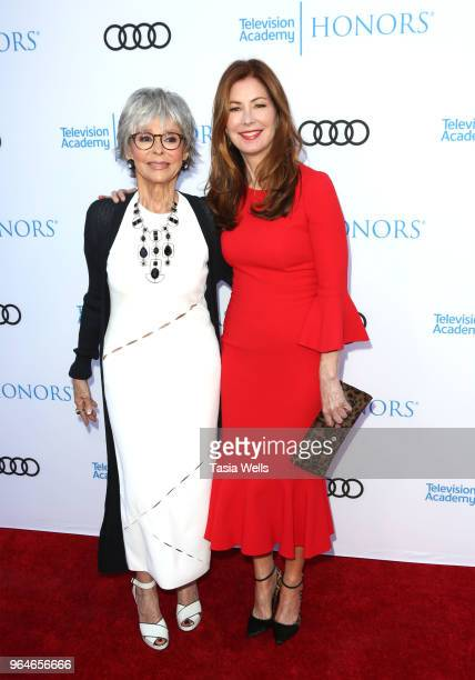 Rita Moreno and Dana Delany attend the 11th Annual Television Academy Honors at NeueHouse Hollywood on May 31 2018 in Los Angeles California