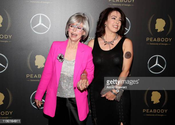 Rita Moreno and Fernanda Fisher attend the 78th Annual Peabody Awards Ceremony Sponsored By MercedesBenz at Cipriani Wall Street on May 18 2019 in...