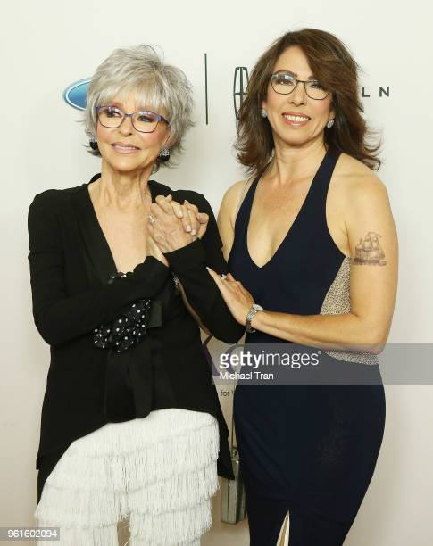 Rita Moreno and Fernanda Luisa Fisher arrive to the 43rd Annual Gracie Awards held at the Beverly Wilshire Four Seasons Hotel on May 22 2018 in...