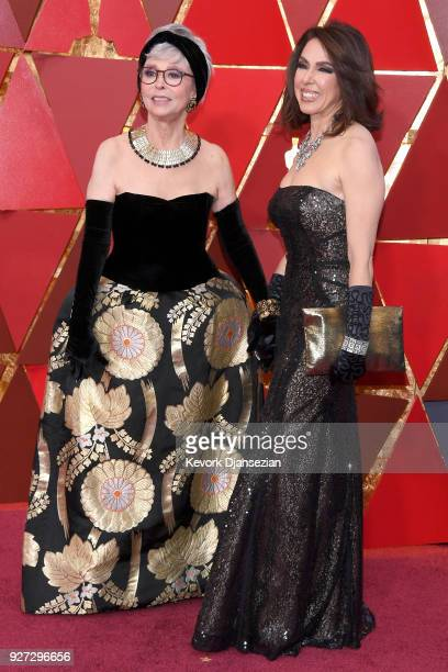 Rita Moreno and Fernanda Luisa Gordon attend the 90th Annual Academy Awards at Hollywood Highland Center on March 4 2018 in Hollywood California