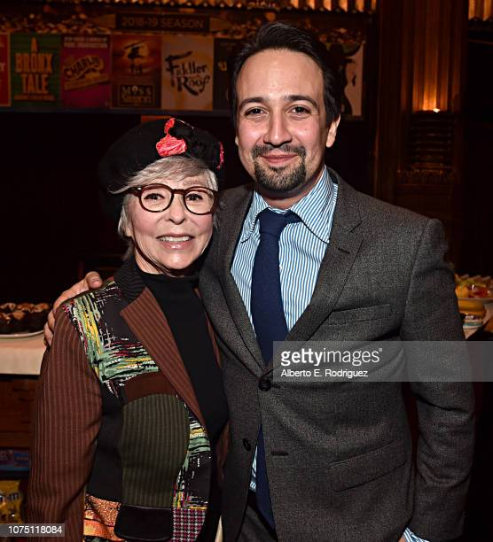Rita Moreno and Lin-Manuel Miranda attend the ceremony honoring Lin-Manuel Miranda with a Star on the Hollywood Walk of Fame on November 30, 2018 in...