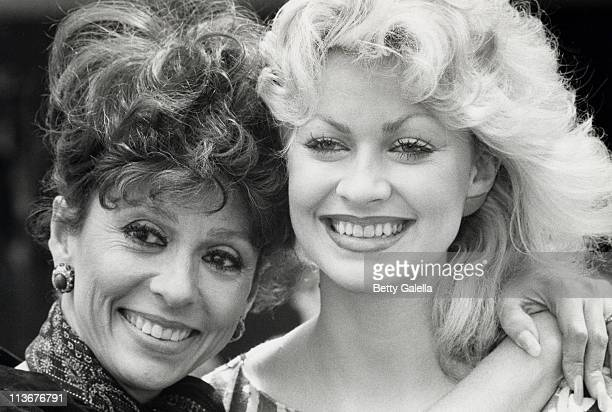 Rita Moreno and Rachel Dennison during Press Conference for TV Show 9 to 5 at ABC Entertainment Center in Century City California United States