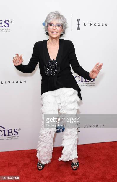 Rita Moreno arrives at the 43rd Annual Gracie Awards at the Beverly Wilshire Four SeasonsHotel on May 22 2018 in Beverly Hills California