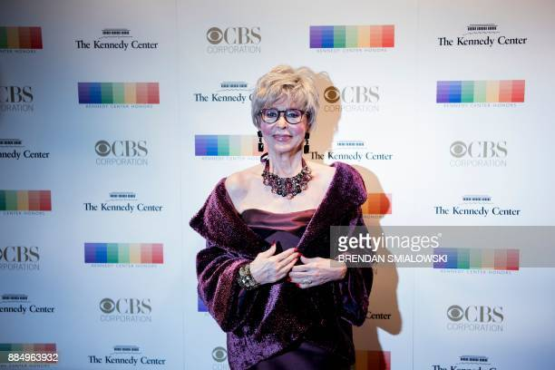 Rita Moreno arrives for the 40th Annual Kennedy Center Honors in Washington DC on December 3 2017 / AFP PHOTO / Brendan Smialowski