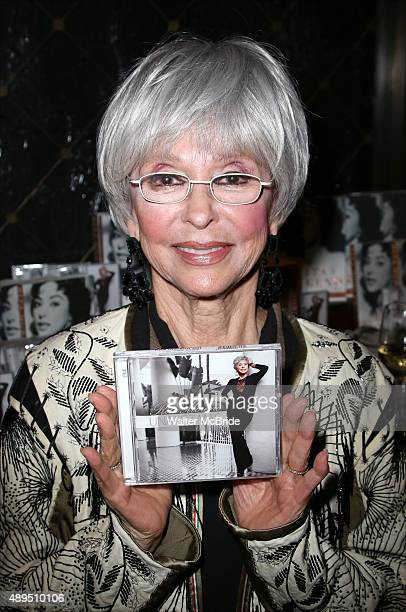 Rita Moreno attends her album launch party for 'Una Vez Mas' at St. Regis Hotel on September 21, 2015 in New York City.