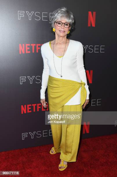 Rita Moreno attends #NETFLIXFYSEE Event For 'One Day At A Time' at Netflix FYSEE At Raleigh Studios on June 2 2018 in Los Angeles California