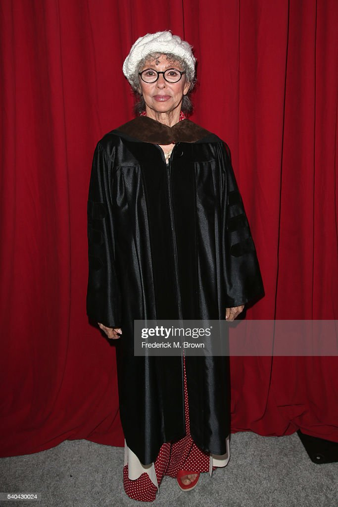Rita Moreno attends the 2016 AFI Conservatory commencement ceremony at TCL Chinese Theatre on June 15, 2016 in Hollywood, California. The American Film Institute is granting honorary degrees to Rita Moreno and Quentin Tarantino for their contributions to the cinematic arts.