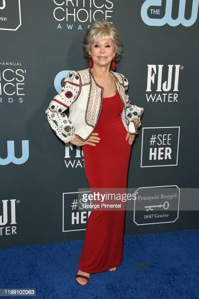 Rita Moreno attends the 25th Annual Critics' Choice Awards held at Barker Hangar on January 12, 2020 in Santa Monica, California.