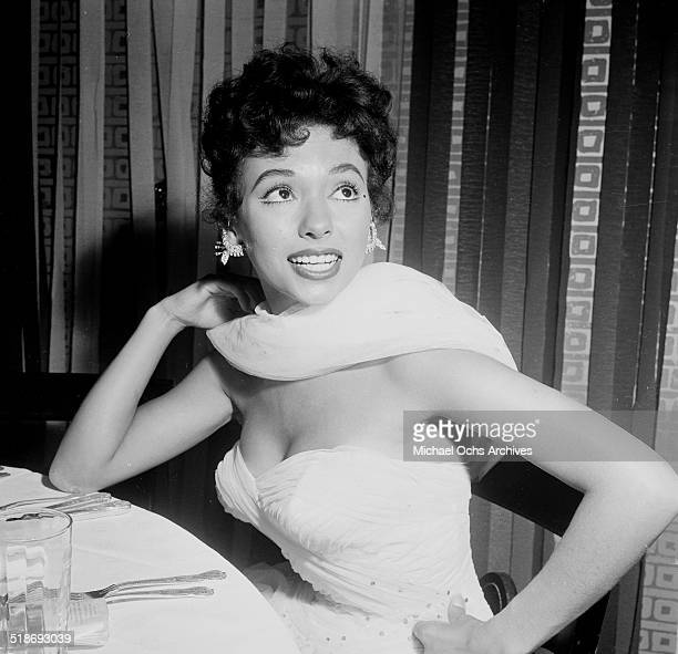 """Rita Moreno attends the movie premiere party of the """"Egyptian"""" at Romanoff's in Los Angeles,CA."""