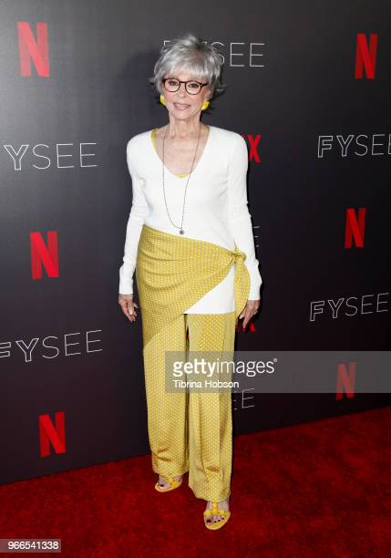Rita Moreno attends the #NETFLIXFYSEE event for 'One Day At A Time' at Netflix FYSEE At Raleigh Studios on June 2 2018 in Los Angeles California
