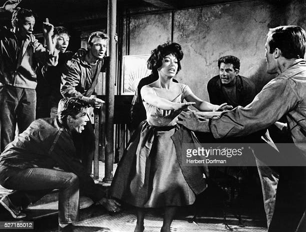 Rita Moreno dancing in a scene from the movie West Side Story