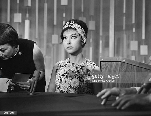 Rita Moreno guests on the CBS gameshow PASSWORD Image dated September 19 1962