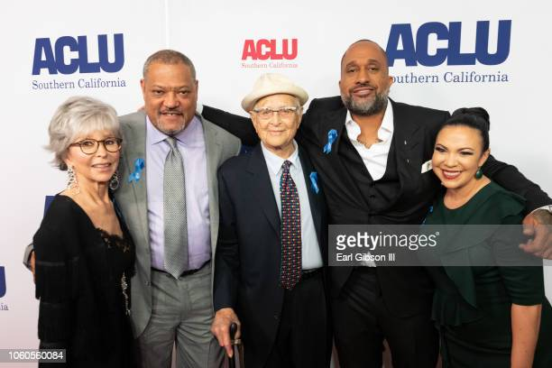 Rita Moreno Laurence Fishburne Norman Lear Kenya Barris and guest attend ACLU's Annual Bill Of Rights Dinner at the Beverly Wilshire Four Seasons...