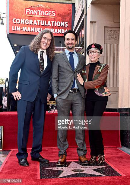 Rita Moreno LinManuel Miranda Weird Al Yankovic and Suzanne Yankovic attend the ceremony honoring LinManuel Miranda with a Star on the Hollywood Walk...