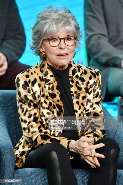 """Rita Moreno of """"One Day at a Time"""" speaks during the Pop TV segment of the 2020 Winter TCA Press Tour at The Langham Huntington, Pasadena on January..."""
