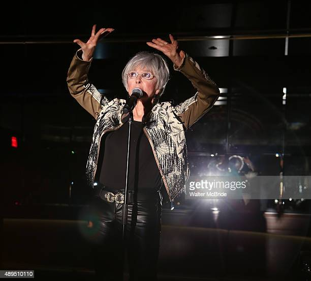 Rita Moreno performing at her album launch party for 'Una Vez Mas' at St. Regis Hotel on September 21, 2015 in New York City.
