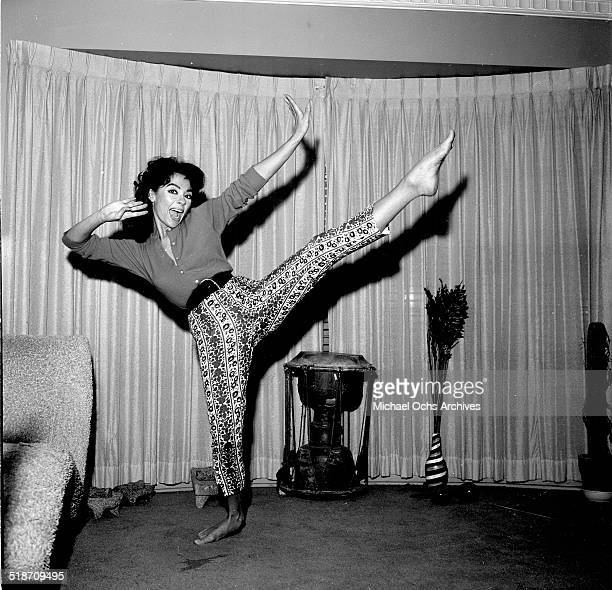 Rita Moreno poses at home in Los AngelesCA
