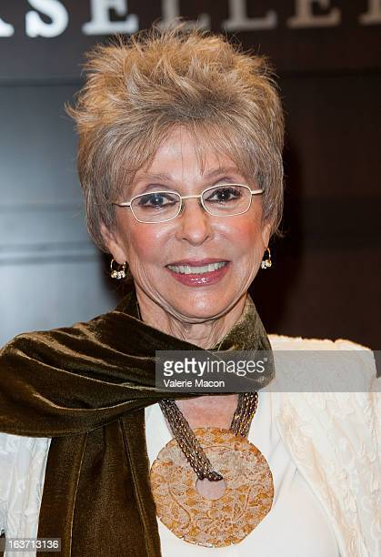 Rita Moreno signs her book during her Book Signing For Rita Moreno A Memoir at Barnes Noble bookstore at The Grove on March 14 2013 in Los Angeles...