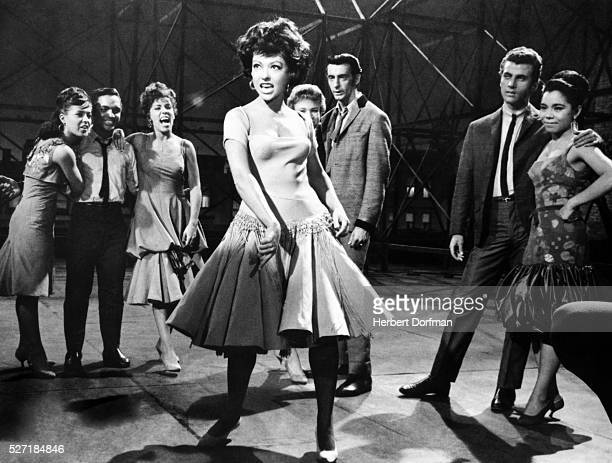 Rita Moreno singing in a scene from the movie West Side Story