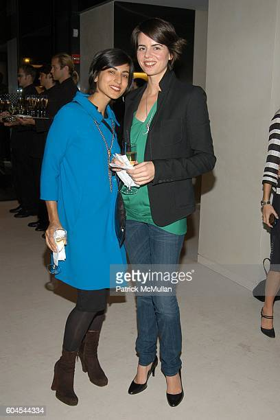 Rita Nakouzi and Gemma Gambee attend LOUIS VUITTON presents OLAFUR ELIASSON at LOUIS VUITTON on Fifth Avenue on November 9 2006 in New York City
