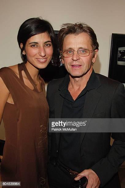 Rita Nakouzi and Mikhail Baryshnikov attend Mikhail Baryshnikov hosts InterCourse Photographs by Eikoh Hosoe at 401 Projects on November 4 2006 in...