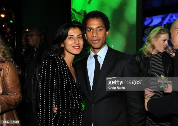 Rita Nakouzi and Toure attend the Media Company Launch Party For Quartz on October 25 2012 in New York City Photo by Craig Barritt/Getty Images for...