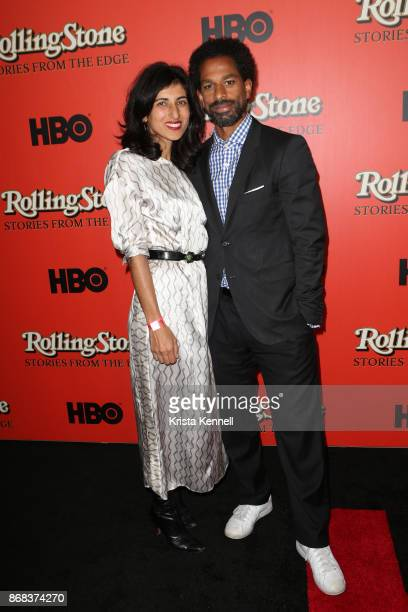 Rita Nakouzi and Toure attend the Rolling Stone Stories From The Edge World Premiere at Florence Gould Hall on October 30 2017 in New York City