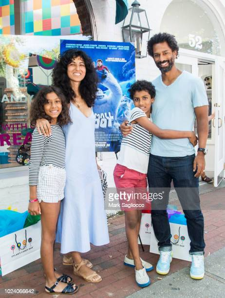 Rita Nakouzi and Toure attend Warner Brothers Pictures and The Cinema Society Special Hamptons Screening of Smallfoot at the UA East Hampton Theater...