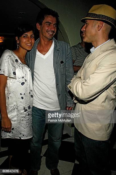 Rita Nakouzi Artan Gjoni and David Kuhn attend CAROLE RADZIWILL book party What Remains at Socialista on June 19 2007 in New York City