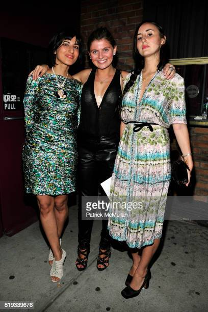Rita Nakouzi Sophie Conti and Sabrina Bacon attend SOMALY MAM FOUNDATION Voices of Change Launch Event at The Box on April 6 2010 in New York City