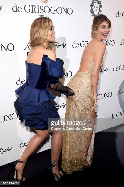 Rita Ora and Camila Morrone attend DeGrisogono Love On The Rocks during the 70th annual Cannes Film Festival at Hotel du CapEdenRoc on May 23 2017 in...