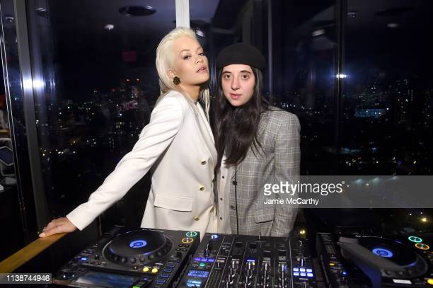Rita Ora and Chloe Caillet attend the launch of the ESCADA Heartbag by Rita Ora on March 27 2019 in New York City
