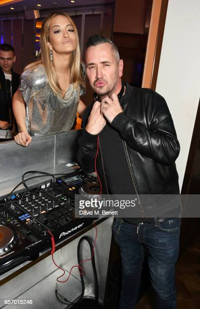 Rita Ora and DJ Fat Tony attend the launch of the JF London x Kyle De'Volle fall/winter 2017 capsule collection sponsored by Ciroc Vodka at W London...