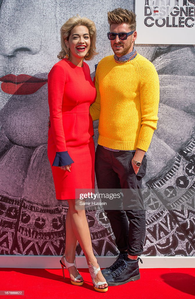 Rita Ora and Henry Holland launch the British Designers' Collection at Bicester Village on May 2, 2013 in Bicester, England.