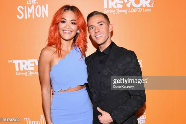 Rita Ora and Host and Olympic Athlete Adam Rippon attend The Trevor Project TrevorLIVE NYC at Cipriani Wall Street on June 11 2018 in New York City
